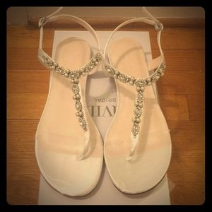 3796ff449d0 David s Bridal Stella Jeweled Bridal Sandal